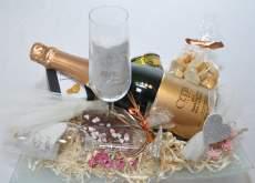 salg af Bryllupsgave på glasfad