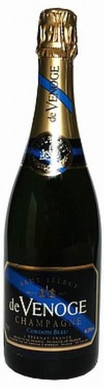 de Venoge Champagne, Cordon Bleu Brut N.V. - 1/2 flaske