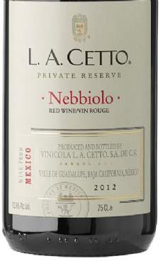 salg af L.A. Cetto - Nebbiolo